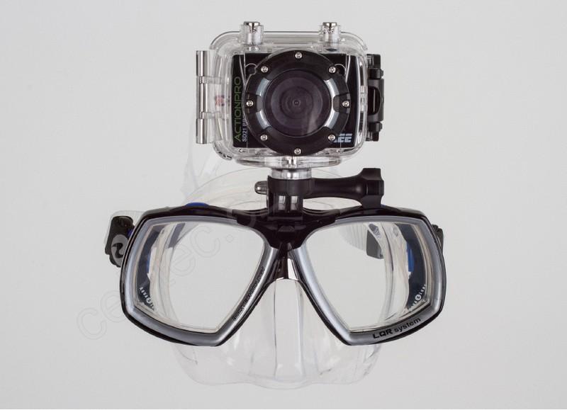 Držák a potápěčská maska Aqualung Look2