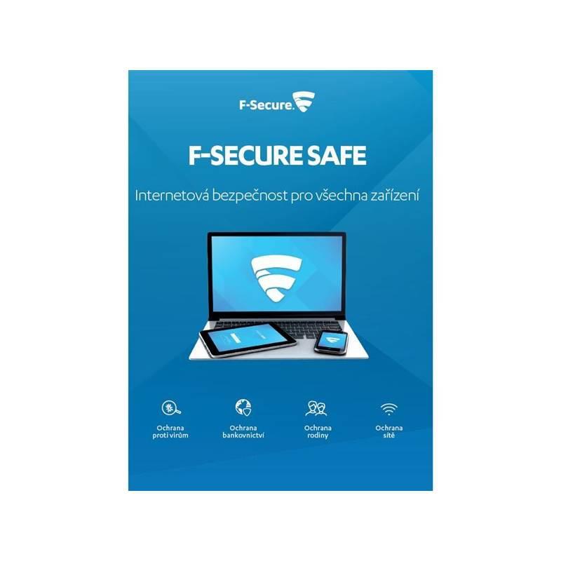 Software F-Secure SAFE 6 měsíců pro 3 zařízení