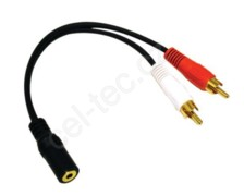 Audio kabel jack - 2x RCA (cinch) female - male
