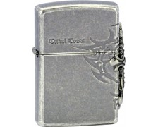 Zapalovač ZIPPO 28159 SIDE TRIBAL CROSS EMBL.silve